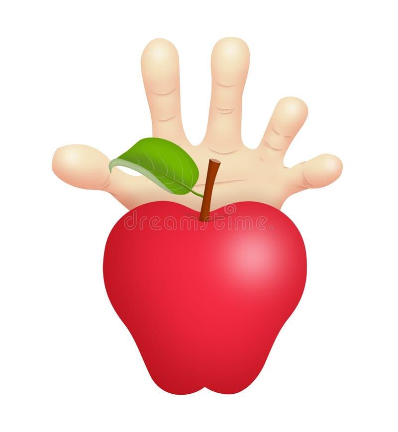 Fruta proibida ilustração do vetor
