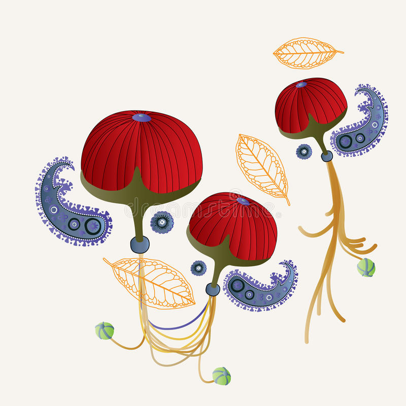 Fruta roja ilustración del vector