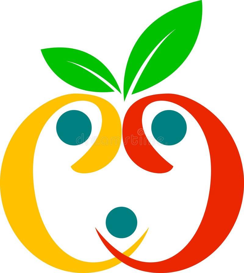 Fruta sana de la familia stock de ilustración