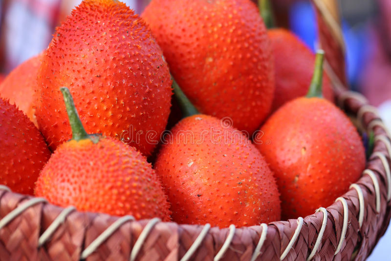 Fruta sana de la fruta de Gac imagen de archivo