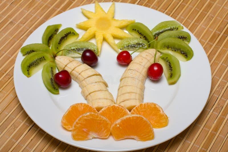 Fruta sob a forma da palma foto de stock royalty free
