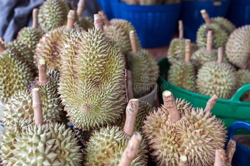 fruta tailandesa del durian, Durian en la mercado de la fruta local Tailandia fotos de archivo libres de regalías