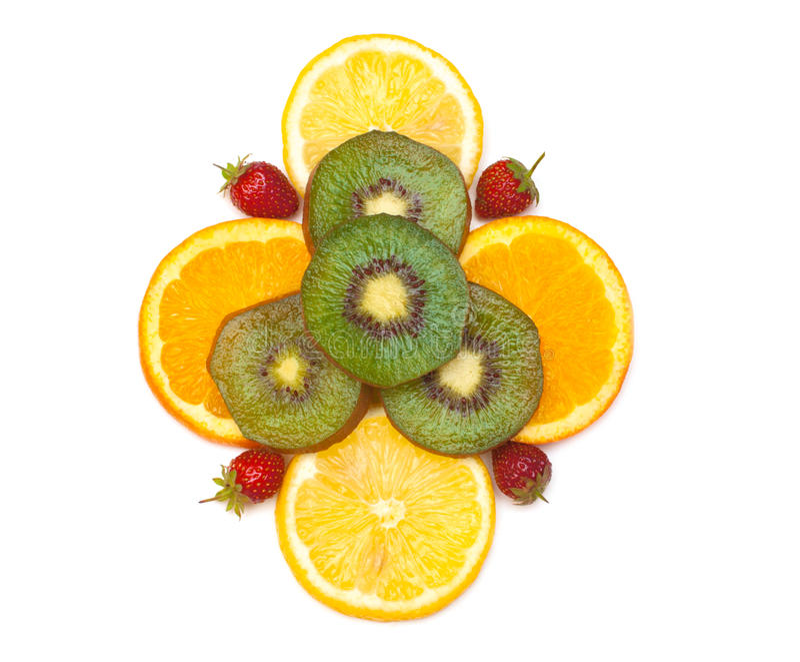Fruta tropical e morango fotos de stock royalty free