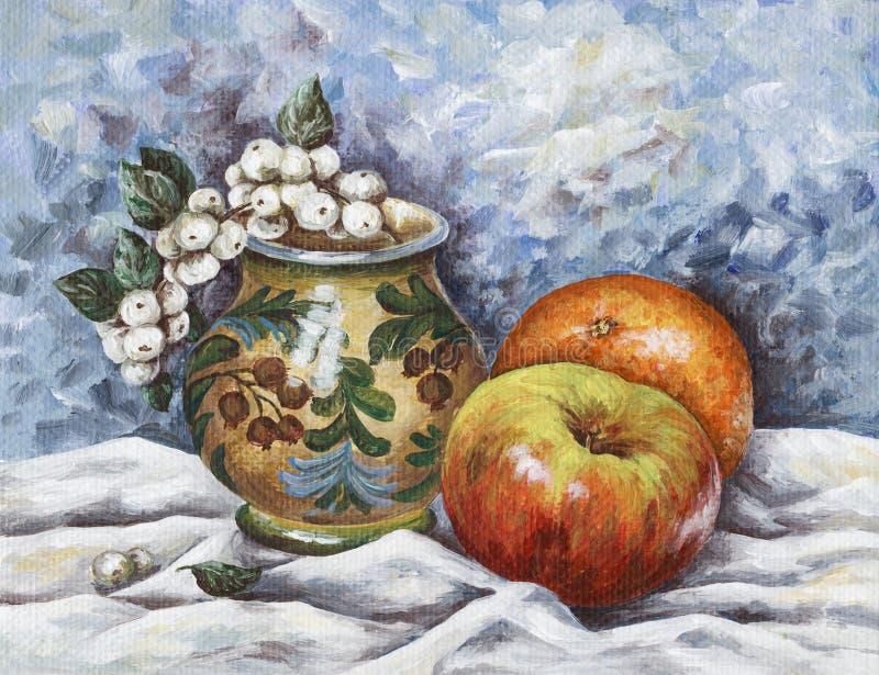 Fruta-vaso-espinheiro cerval ilustração stock