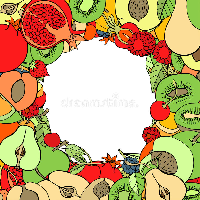 Fruta y baya stock de ilustración