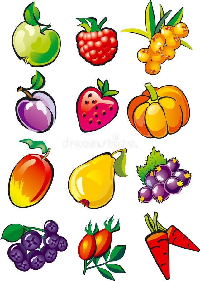 Fruta y bayas imagen de archivo