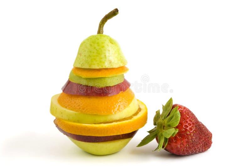 Fruta y fresa mezcladas fotos de archivo libres de regalías