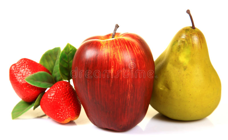 Frutas artificiales fotos de archivo libres de regalías