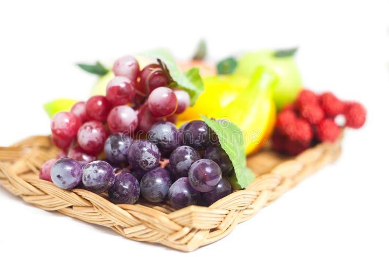Frutas artificiales foto de archivo libre de regalías