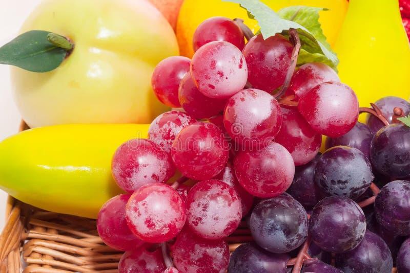 Frutas artificiales imágenes de archivo libres de regalías