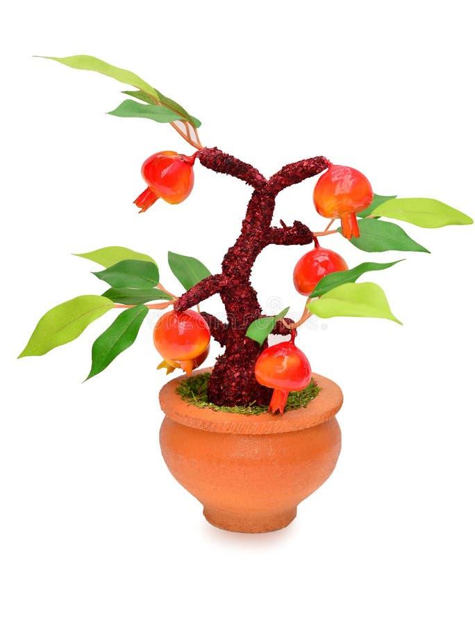Frutas (artificiales) aisladas en el fondo blanco fotografía de archivo libre de regalías