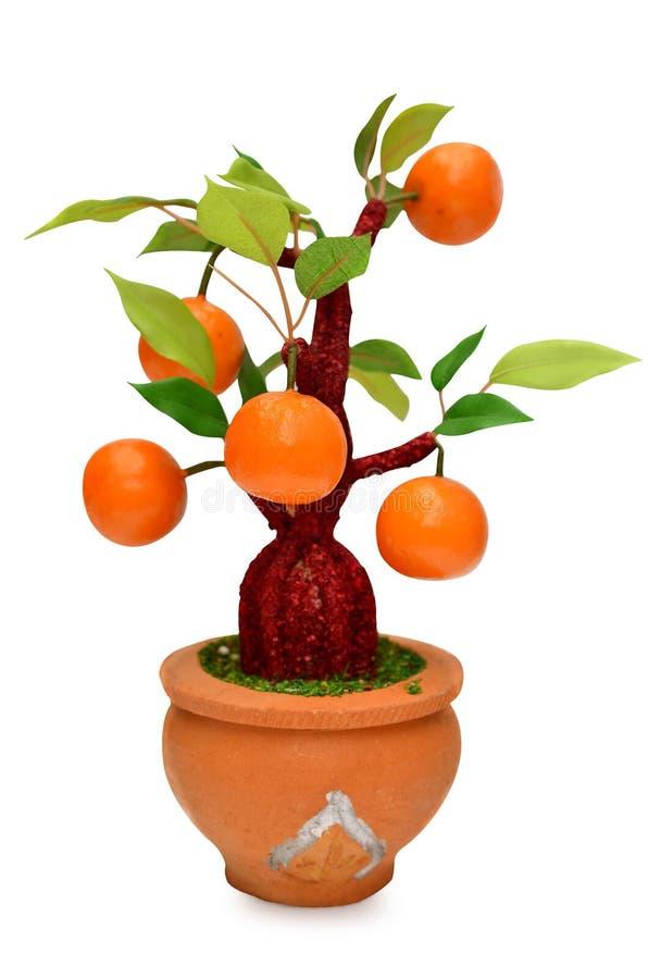 Frutas (artificiales) aisladas en el fondo blanco imágenes de archivo libres de regalías