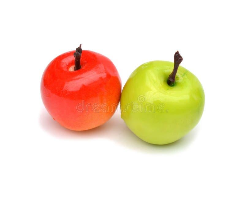 Frutas (artificiales) aisladas en el fondo blanco foto de archivo libre de regalías