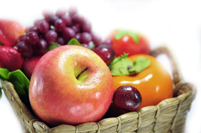 Frutas artificiales clasificadas fotografía de archivo libre de regalías
