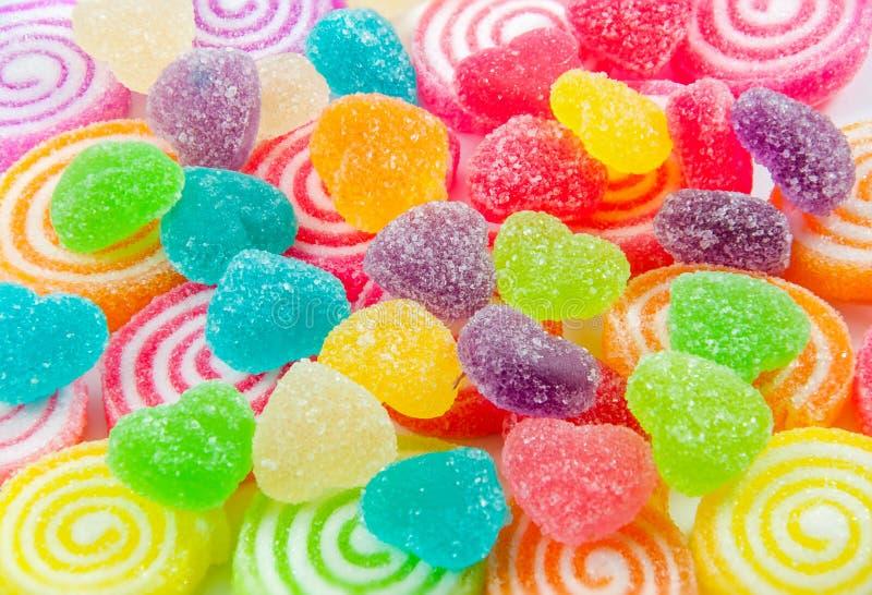 Frutas coloridas de la jalea de la mezcla fotografía de archivo