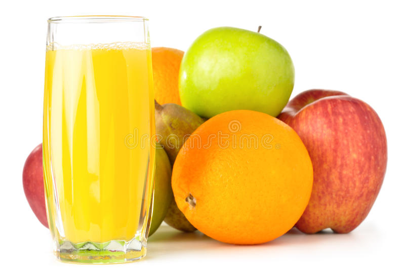 Frutas con el jugo foto de archivo libre de regalías