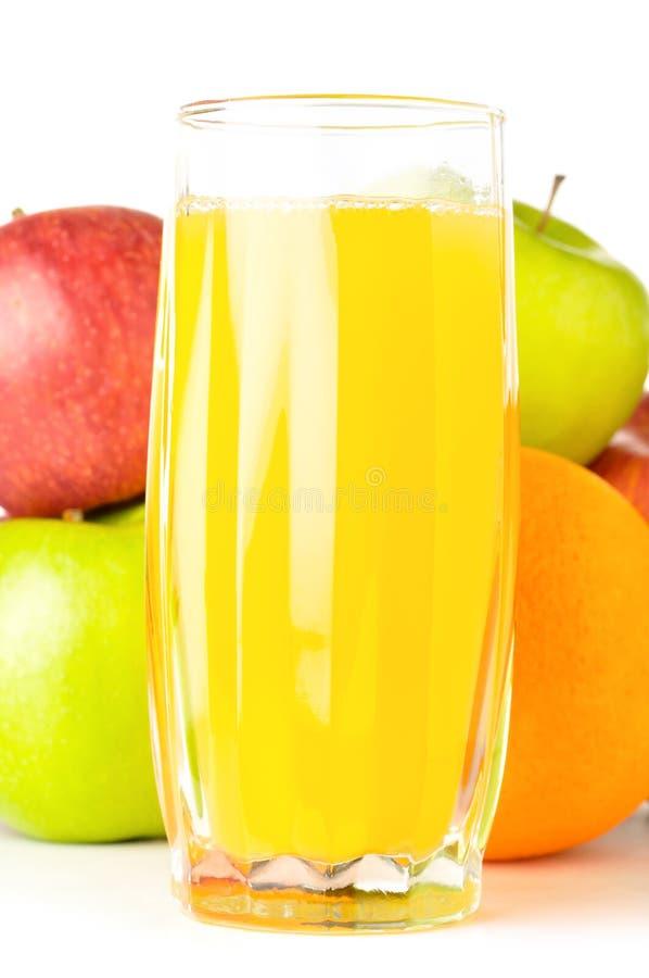 Frutas con el jugo imagen de archivo libre de regalías
