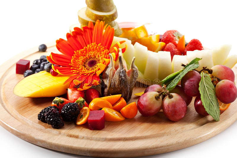 Frutas con las bayas foto de archivo libre de regalías