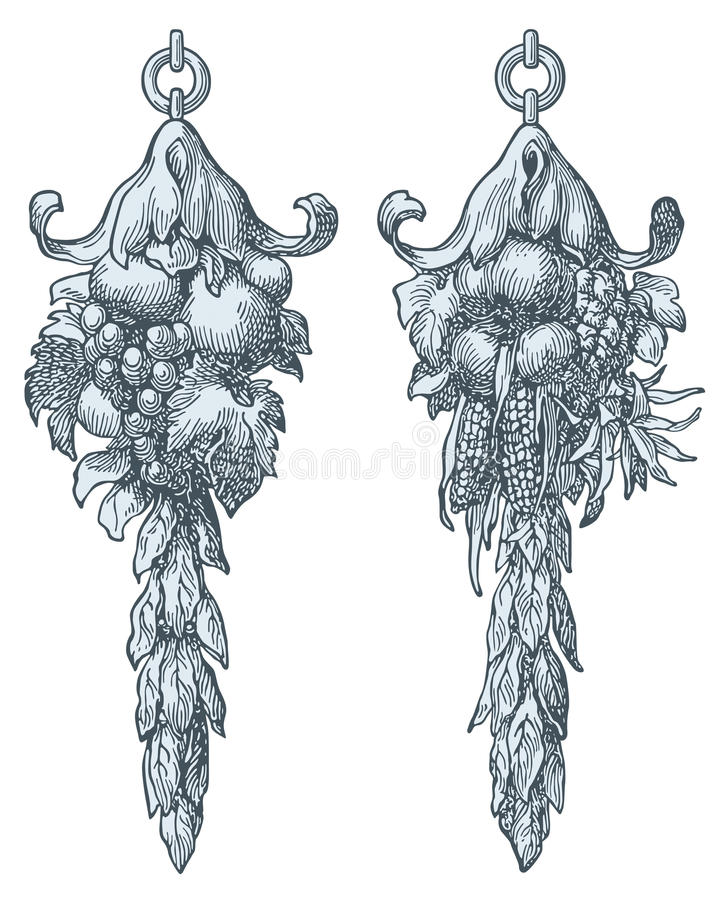 Frutas da abundância ilustração do vetor