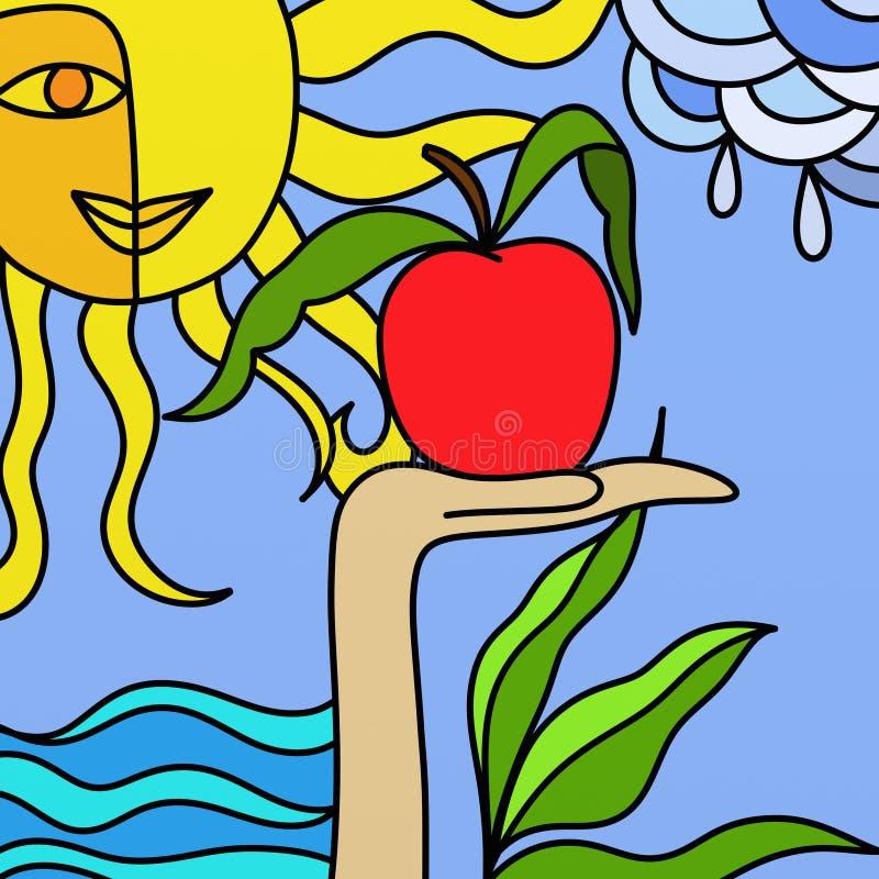 Frutas da natureza ilustração royalty free
