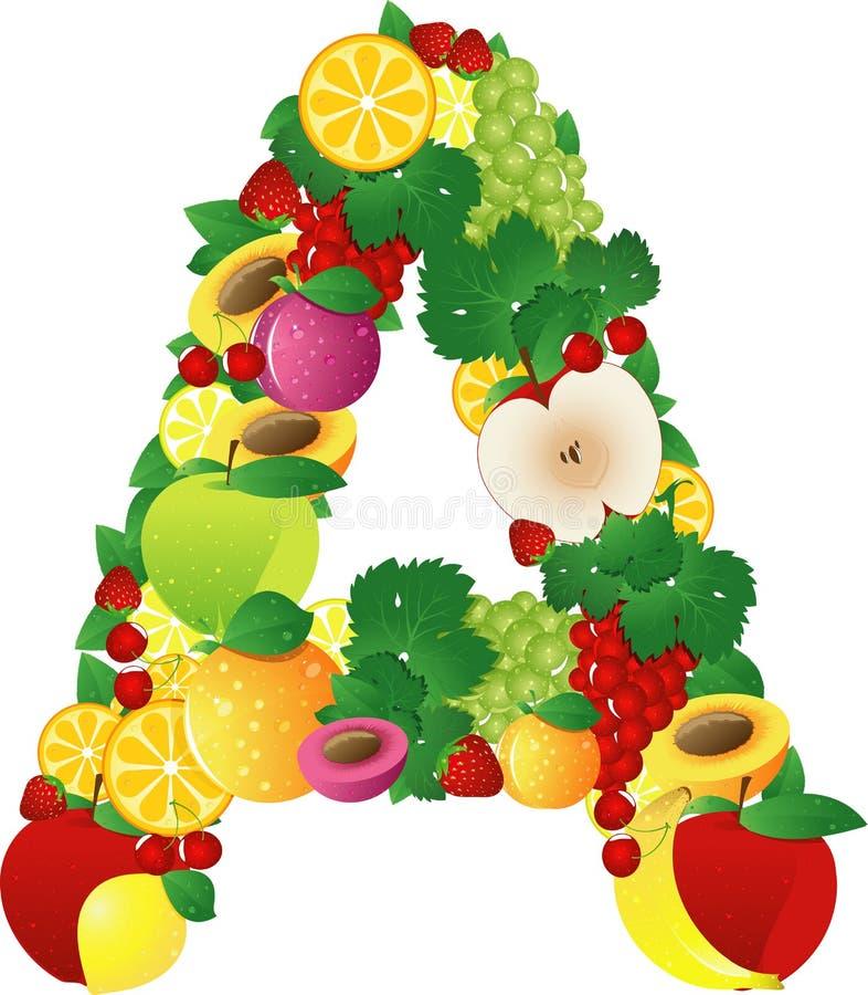 Frutas de Alphabatical ilustração do vetor