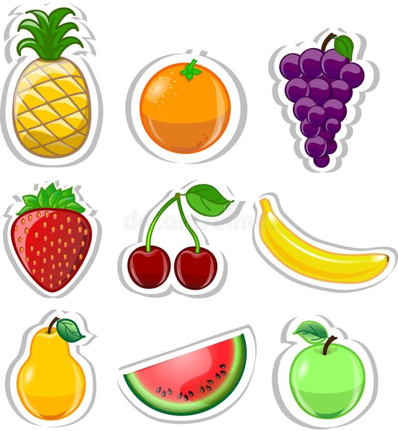 Frutas de la historieta libre illustration