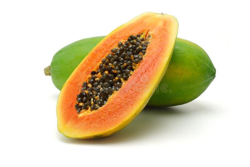 Frutas de la papaya foto de archivo