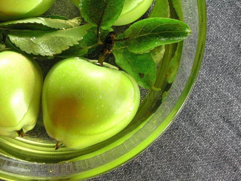 Frutas do verão: maçãs fotografia de stock
