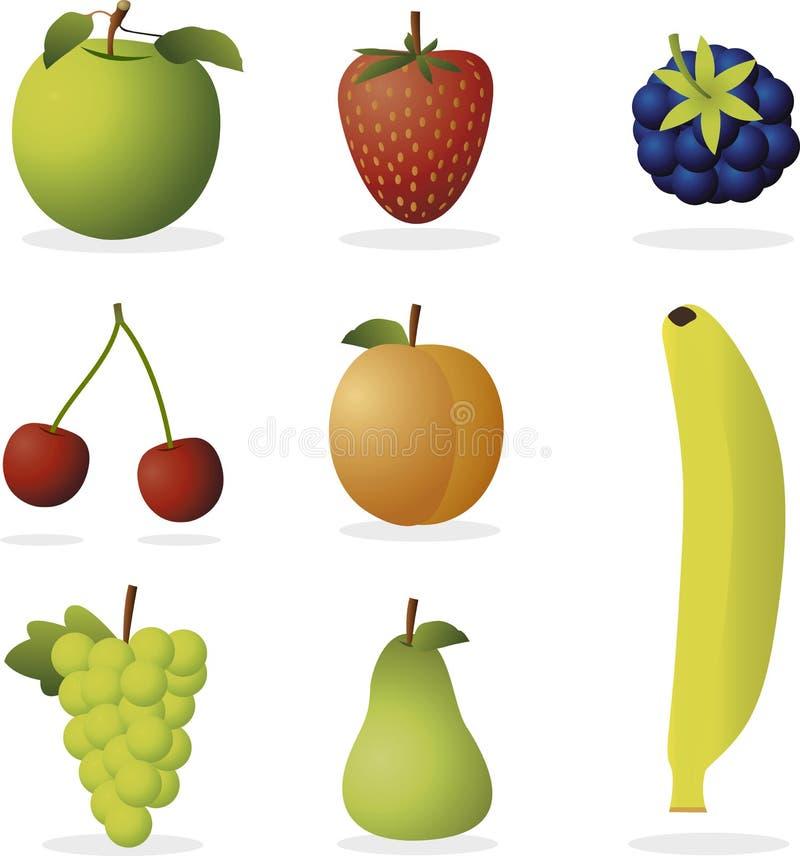 Frutas do vetor ilustração royalty free