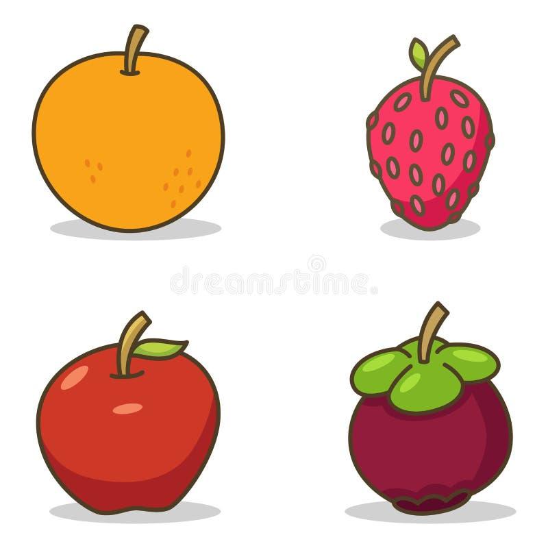 Frutas doces ilustração royalty free