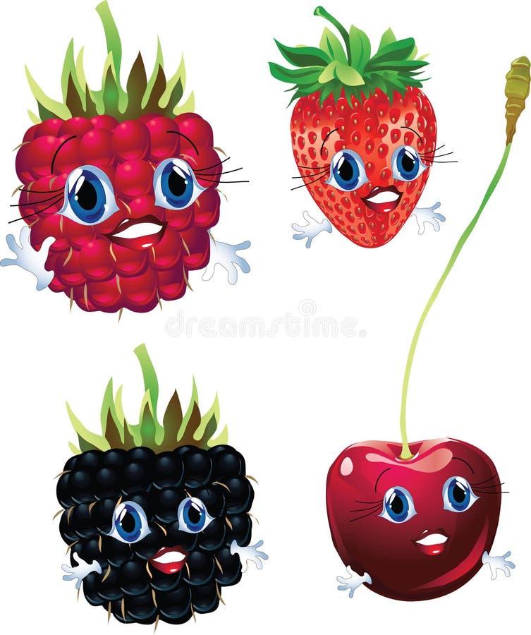 Frutas dos desenhos animados ilustração stock