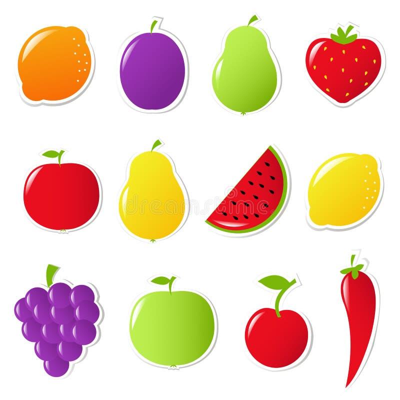 Frutas e legumes ilustração royalty free