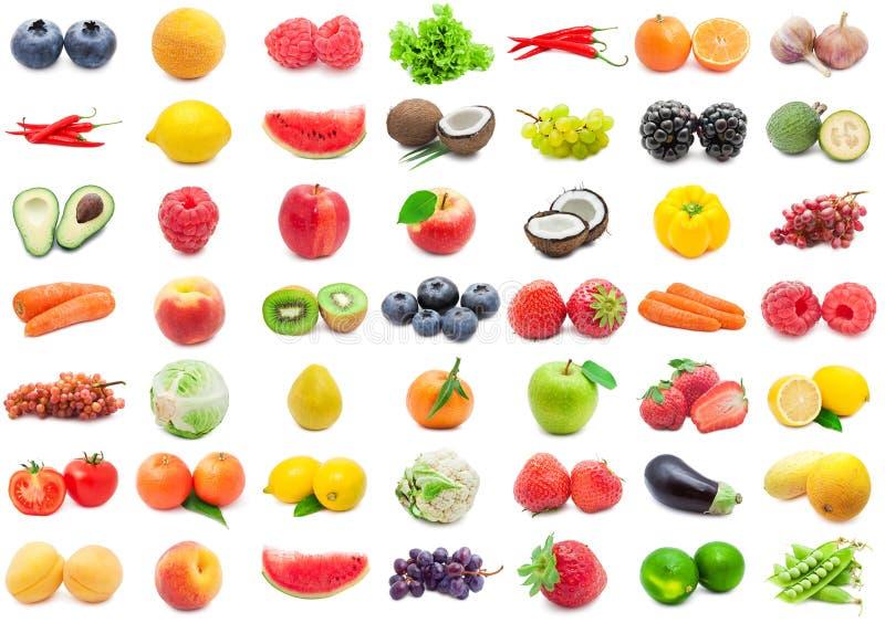 Frutas e legumes ajustadas imagem de stock royalty free