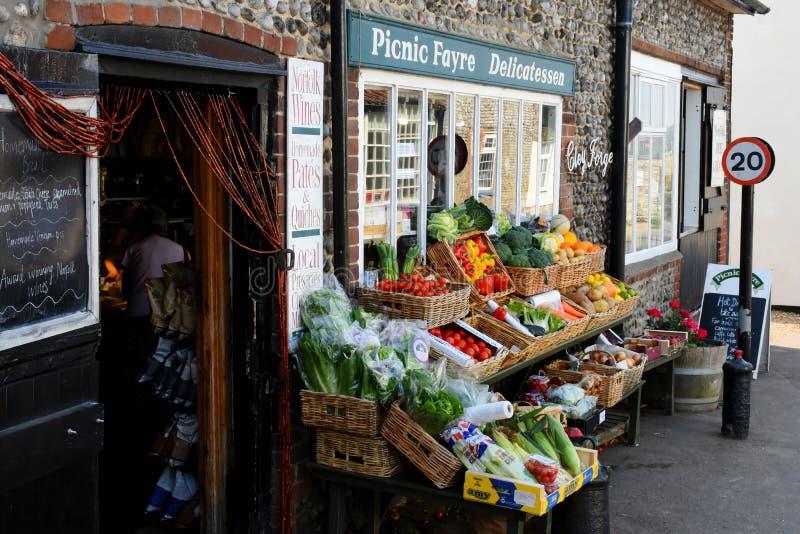 Frutas e legumes, Cley em seguida o mar, Norfolk imagem de stock