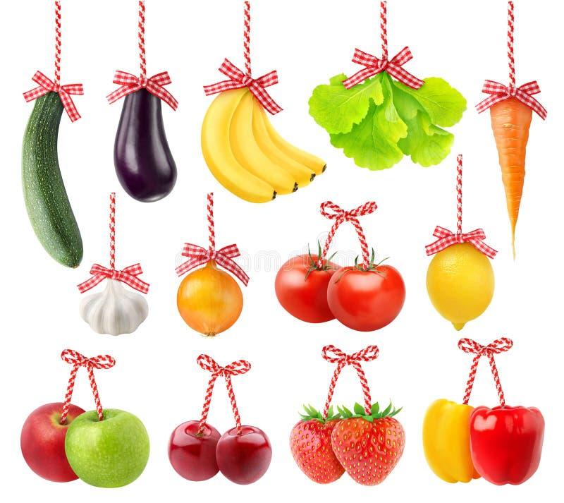Frutas e legumes como a decoração do Natal fotografia de stock