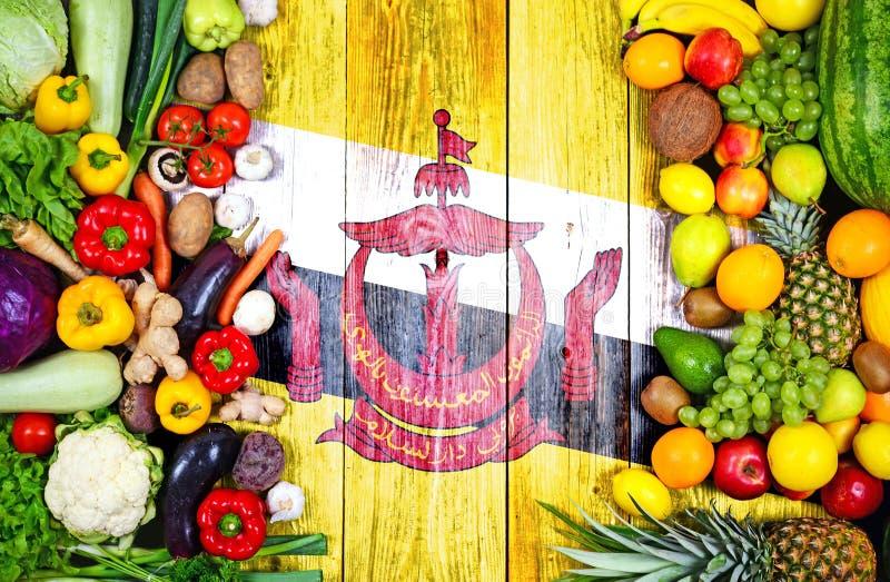 Frutas e legumes frescas de Brunei Darussalam fotos de stock