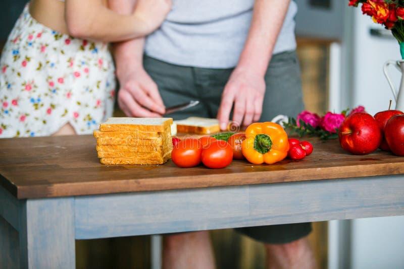Frutas e legumes frescas para a refeição saudável foto de stock