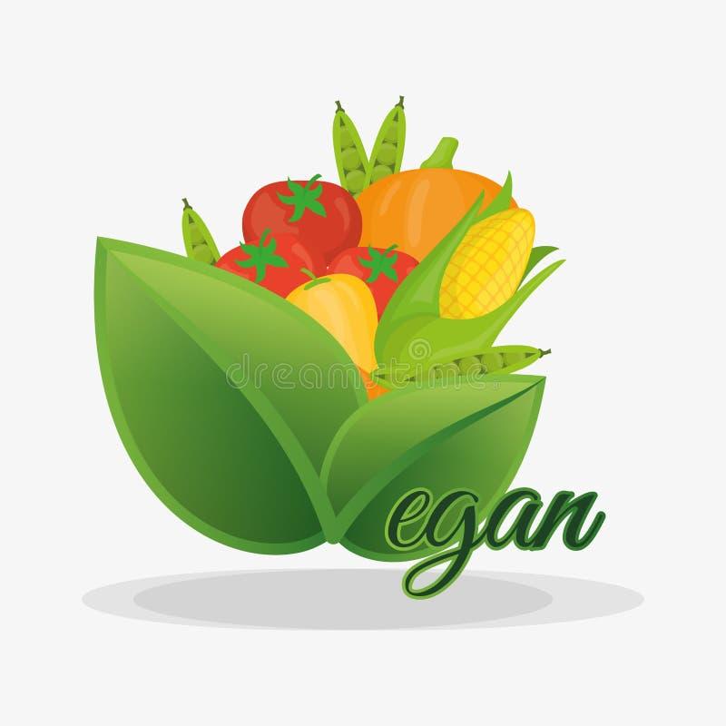 frutas e legumes saudáveis da nutrição do vegetariano ilustração royalty free