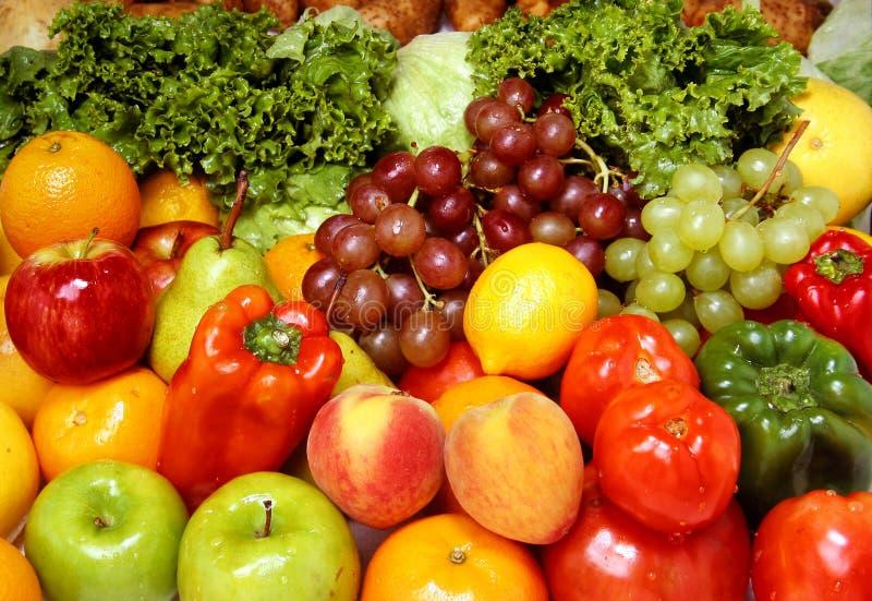 Frutas e verdura frescas fotografia de stock