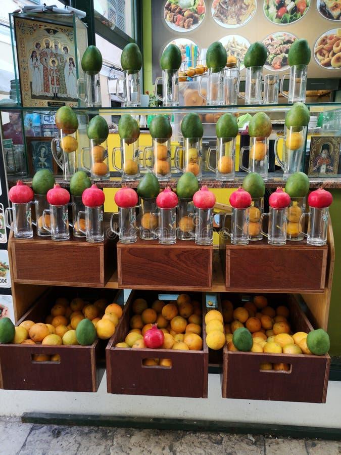 Frutas en corfu foto de archivo