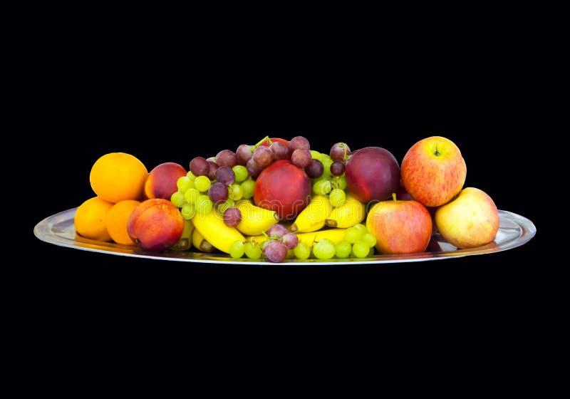 Frutas en un disco foto de archivo libre de regalías