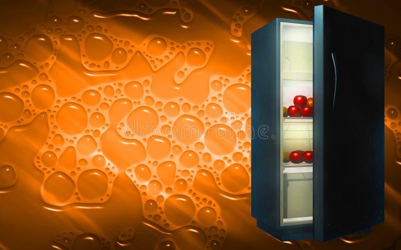 Frutas en un refrigerador libre illustration