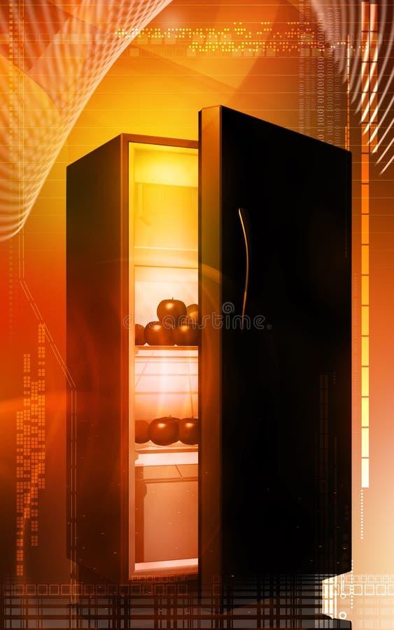 Frutas en un refrigerador ilustración del vector
