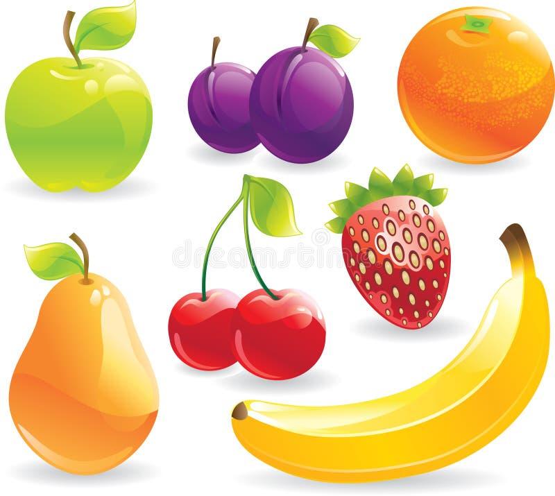 Frutas fijadas ilustración del vector