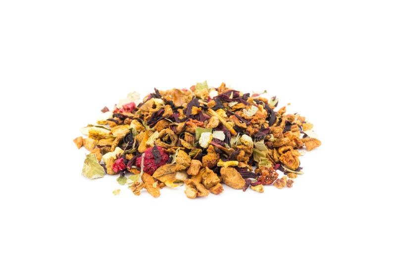 Frutas flojas mezcladas del bosque como té foto de archivo