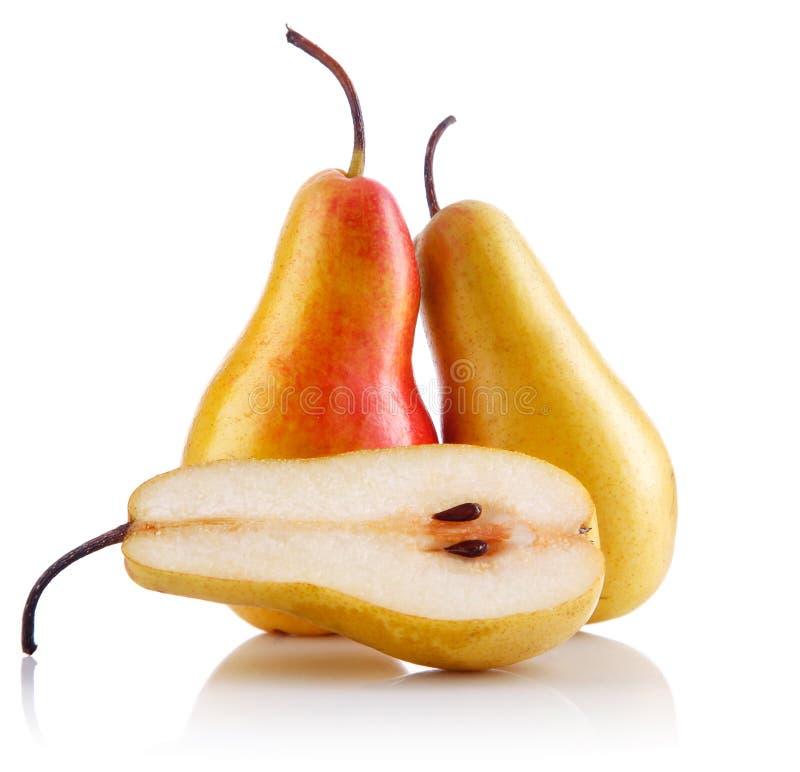 Frutas frescas da pera com corte imagem de stock