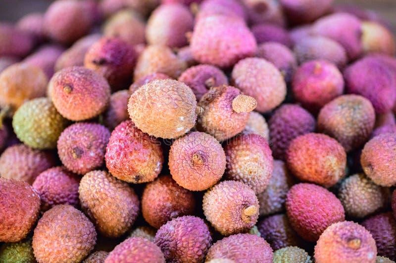 Frutas frescas del lichí fotografía de archivo