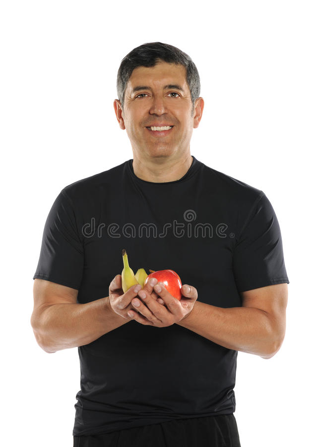 Frutas hispánicas maduras de la explotación agrícola del hombre foto de archivo