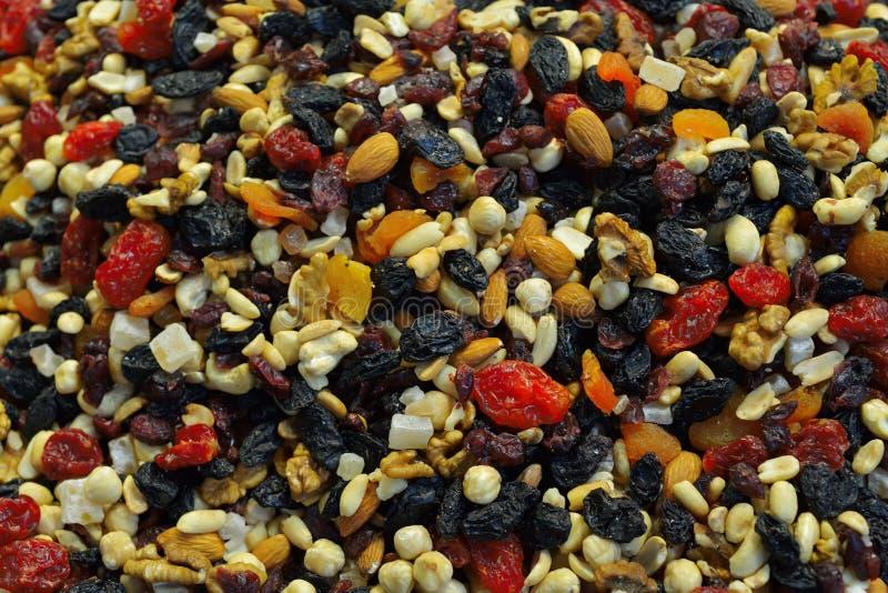 Frutas Nuts y secadas imagen de archivo libre de regalías
