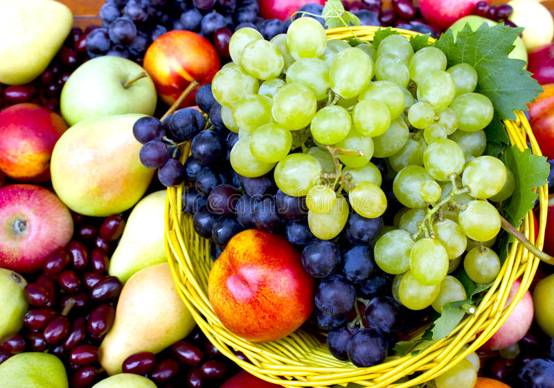 Frutas orgánicas frescas imagenes de archivo